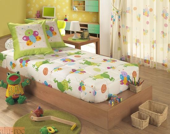 Edredón ajustable por las esquinas inferiores para dormitorios juveniles