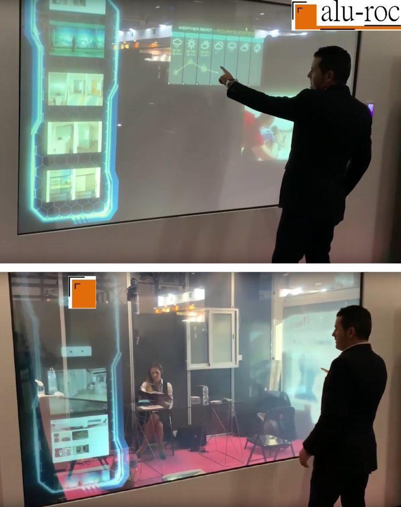 Paredes de cristal interactivas aplicaciones