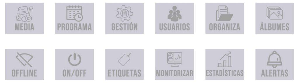 Características Software Cartelería Digital