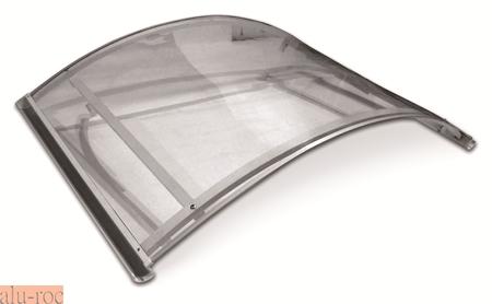 Techado de aluminio y vidrio plexiglas para viviendas de ambiente moderno aluminco 295 20x - Tejadillo para puerta ...