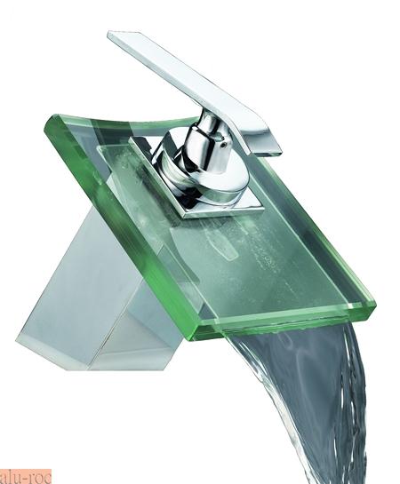 Baño Termostatico Medidas:Grifos monomando de lavabo caño de cristal Grizasa Arba 60004