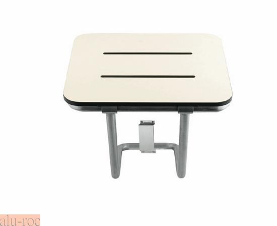 Taburetes Baño Minusvalidos:Asiento abatible para baños de diseño, en color blanco