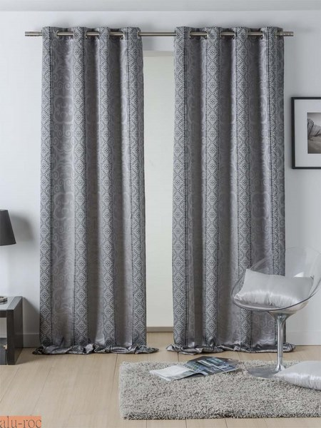 Cortinas for Cortinas gris plata