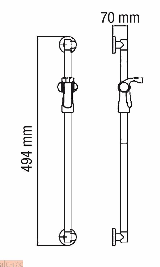 Barra de apoyo para ba os con soporte de ducha for Soporte para ducha sin taladrar