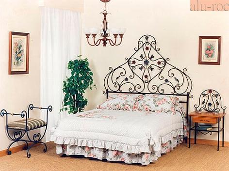 Cabecero de cama en forja de hierro artesanal pintada a mano