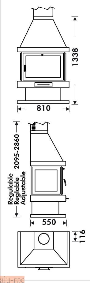 Chimeneas grandes dimensiones affordable chimenea moderna - Chimeneas grandes dimensiones ...