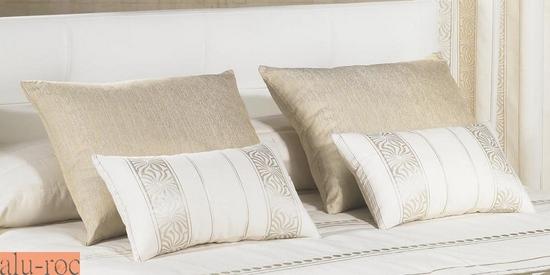 Coj n diamond oro y plata - Cojines grandes para cama ...