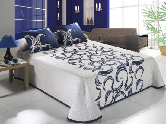 Colcha moderna para cama iuba - Tipos de colchas ...