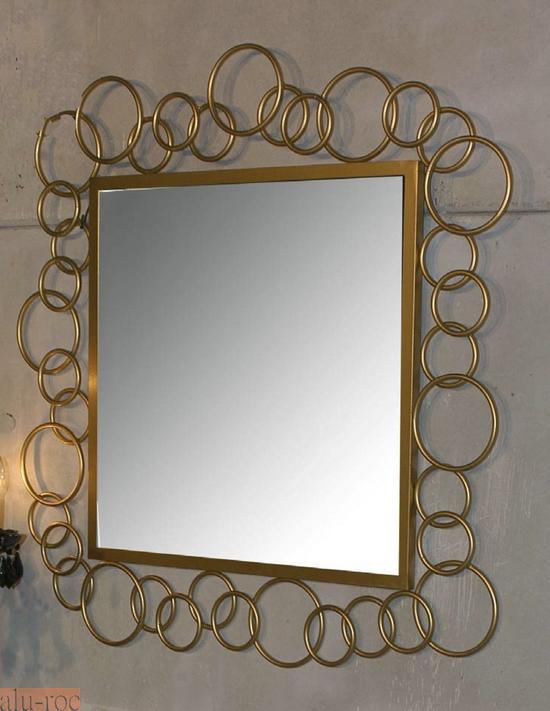 Espejo decorativo cuadrado de forja agnese - Como decorar un espejo de bano ...