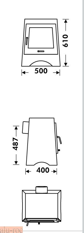 Muebles Baño Medidas Reducidas:Calefactor de leña para disfrutar del calor del fuego sin humos en
