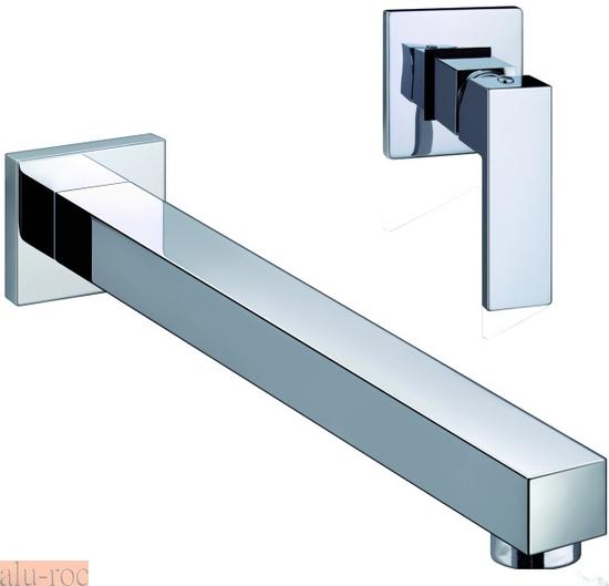 Grifo monomando de pared para lavabo serie tizziano for Grifos modernos