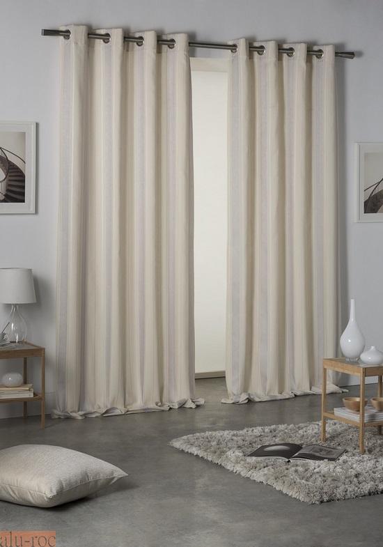 Cortina coordinada bianca for Enganches para cortinas