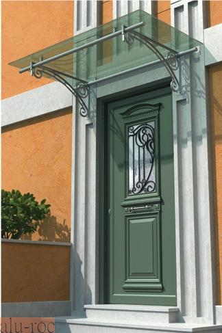 Marquesinas policarbonato for Puerta entrada aluminio