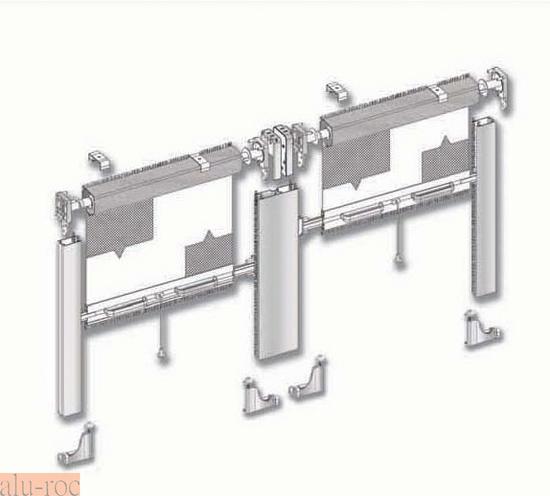 Mosquitera de aluminio enrollable vertical - Repuestos persianas enrollables ...