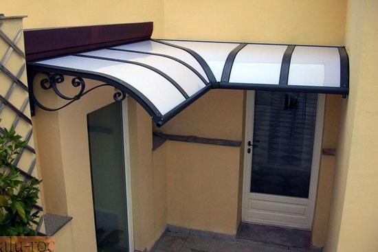 Marquesinas policarbonato for Techos de metal para terrazas