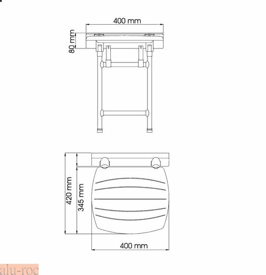 Taburetes Baño Minusvalidos:Asiento abatible en color blanco para baños