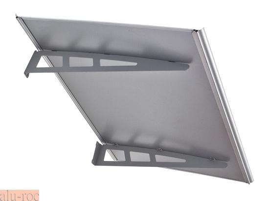 Marquesina de aluminio y chapa composite metal for Marquesinas para puertas