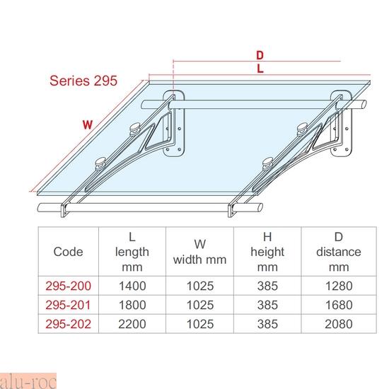 Techado de aluminio y vidrio plexiglas para viviendas de for Puertas de aluminio medidas estandar