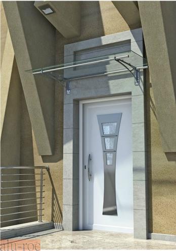 Techado de aluminio y vidrio plexiglas para viviendas de - Marquesinas para puertas ...