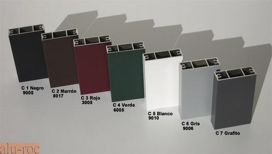 Marquesina de aluminio advance con tejado de policarbonato for Colores ventanas aluminio lacado