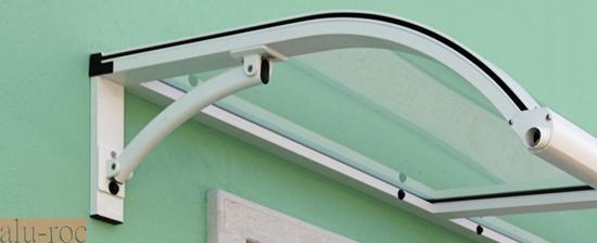Marquesina de aluminio advance con tejado de policarbonato - Tejadillo para puerta ...