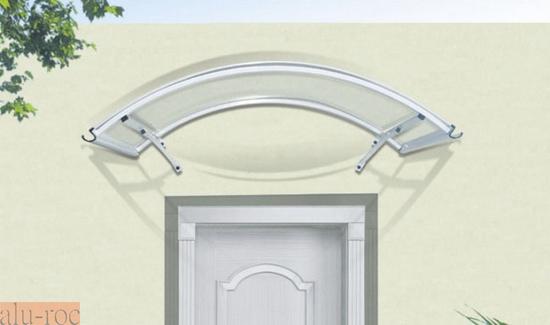 Marquesina barata de aluminio y policarbonato curve for Puertas de aluminio baratas