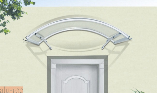 Marquesina barata de aluminio y policarbonato curve for Puertas exterior aluminio baratas