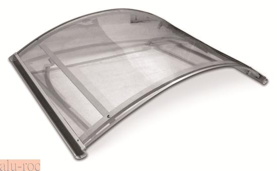 Marquesina barata de aluminio y policarbonato curve for Puertas de entrada baratas