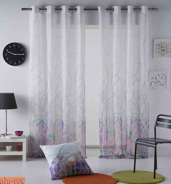 Cortinas splatter for Enganches de cortinas
